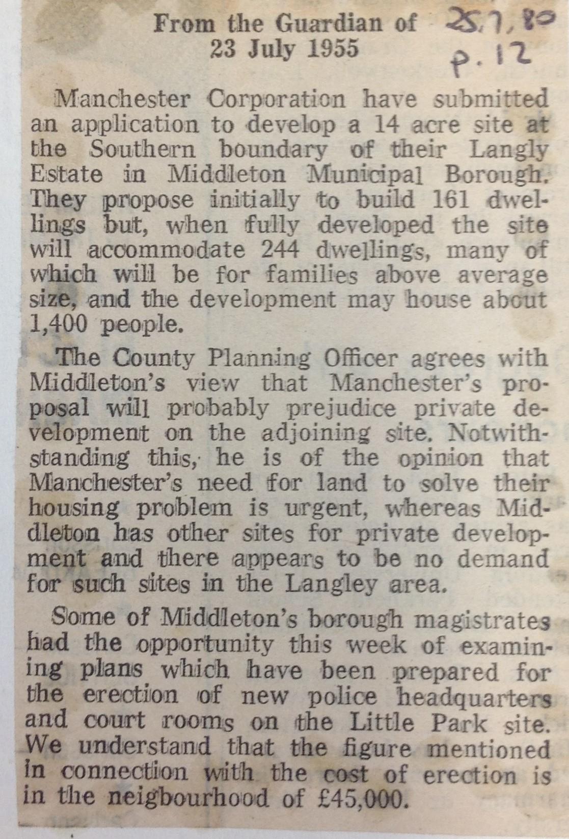 Proposal for Langleyestate